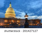 U.s. Capitol At Night  ...
