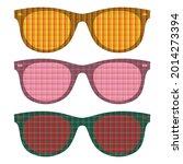 summer sunglasses vector... | Shutterstock .eps vector #2014273394