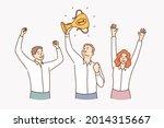 teamwork  success  celebrating...   Shutterstock .eps vector #2014315667