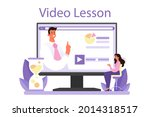 staff counselling online...   Shutterstock .eps vector #2014318517