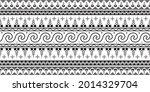 seamless ethnic pattern design... | Shutterstock .eps vector #2014329704