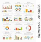 infographic elements big set | Shutterstock .eps vector #201433061