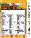 thanksgiving day maze for... | Shutterstock .eps vector #2014352291