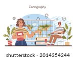 geography class concept.... | Shutterstock .eps vector #2014354244