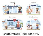 history lesson online service...   Shutterstock .eps vector #2014354247