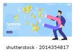business man holding a big... | Shutterstock .eps vector #2014354817
