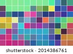 square mosaic with color cells... | Shutterstock .eps vector #2014386761