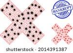 mesh polygonal x cross icons...   Shutterstock .eps vector #2014391387