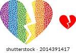 broken love heart collage icon...   Shutterstock .eps vector #2014391417