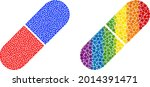 medical pill collage icon of...   Shutterstock .eps vector #2014391471