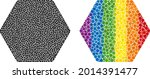 rounded hexagon mosaic icon of...   Shutterstock .eps vector #2014391477