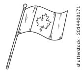 canadian flag with maple leaf ... | Shutterstock .eps vector #2014403171