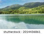 Landscape View Of Mountain And...