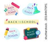back to school badge  logo.... | Shutterstock .eps vector #2014447091