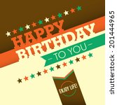 illustrated birthday greeting... | Shutterstock .eps vector #201444965