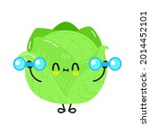 cute funny cabbage character... | Shutterstock .eps vector #2014452101