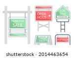 sale real estate signs design.... | Shutterstock .eps vector #2014463654