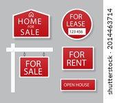 sale real estate signs design.... | Shutterstock .eps vector #2014463714