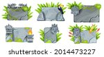 tropical stone sign board set ...
