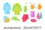 set of bathroom clothes and... | Shutterstock .eps vector #2014474577