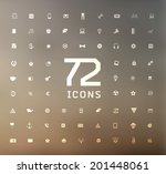 universal modern icons for web ... | Shutterstock .eps vector #201448061