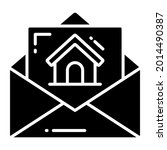 mail trendy icon  flat style...