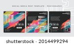 set of black and colorful... | Shutterstock .eps vector #2014499294
