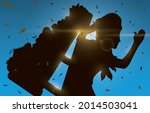 sky view with some sun rays and ... | Shutterstock .eps vector #2014503041