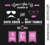 wedding invitation card vintage ... | Shutterstock .eps vector #201451109