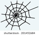 spider net. image isolated on... | Shutterstock . vector #201452684