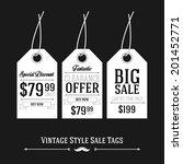 vintage style sale tags design  | Shutterstock .eps vector #201452771