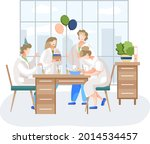birthday party in hospital  fun ...   Shutterstock .eps vector #2014534457