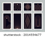 abstract boho linear style... | Shutterstock .eps vector #2014554677