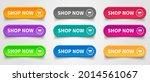 shop now. set of button shop... | Shutterstock .eps vector #2014561067