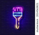 building paintbrush neon icon....   Shutterstock .eps vector #2014563821