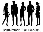 vector silhouettes of  men and...   Shutterstock .eps vector #2014565684