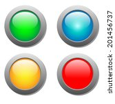round color buttons | Shutterstock . vector #201456737