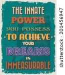 retro vintage motivational... | Shutterstock .eps vector #201456947