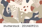 floral dotted pattern with... | Shutterstock .eps vector #2014609211