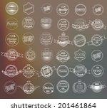 mega set of thin lineretro... | Shutterstock .eps vector #201461864