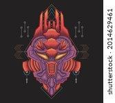 owl head art illustration... | Shutterstock .eps vector #2014629461