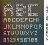 alphabet set. typographic sign  ...