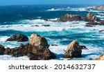 Ocean Waves Crash On Rugged...