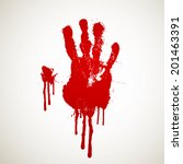 vector illustration of a bloody ... | Shutterstock .eps vector #201463391
