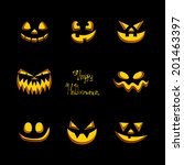 vector illustration of scary... | Shutterstock .eps vector #201463397