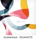 colorful swirl wave lines... | Shutterstock .eps vector #201464279