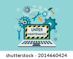website under construction page....   Shutterstock .eps vector #2014660424