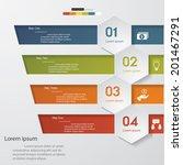 design clean number banners... | Shutterstock .eps vector #201467291