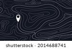 topographic map and direction... | Shutterstock .eps vector #2014688741