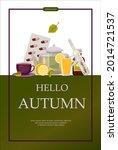 bright vector autumn sales... | Shutterstock .eps vector #2014721537